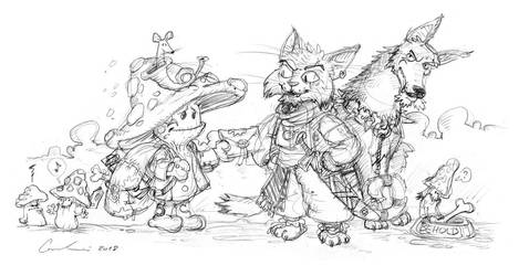 Lo'Djur and the Undertown postman (pencils) by Clone-Artist