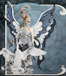 Blue Celestite by orafaerygirl