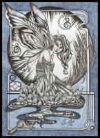 Rock Faery- Blue Calcite by orafaerygirl