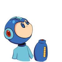 Why so blue Mega Man? by RadicalRaiju