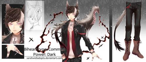 [CLOSED] Auction Adopt Biheart The Dark Dragon by sarahwidiadopts