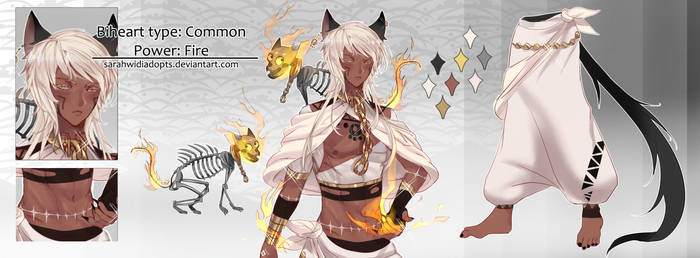 [CLOSED] Auction Adopt Biheart Fire Skull by sarahwidiadopts