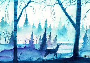 Misty morning by KaritaArt