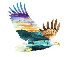 Soaring eagle by KaritaArt