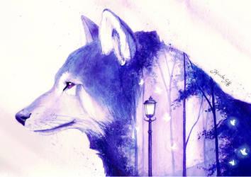 Wolf by KaritaArt