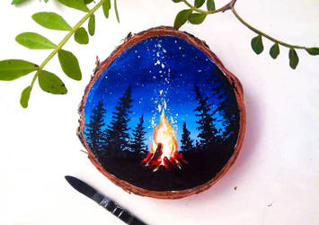 Cozy bonfire by KaritaArt