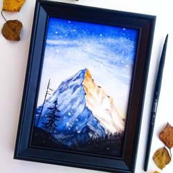 Winter mountain by KaritaArt