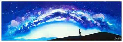 Milkyway horizon by KaritaArt