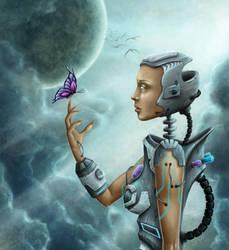 Robot-girl by NoName-Face