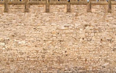 Tower of London Wall by SimoonMurray