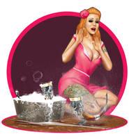 Beer Horn Bathing with Lisa by ArtbroSean
