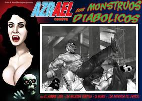 Azrael vs. The Diabolical Monsters Lobby Card by ArtbroSean