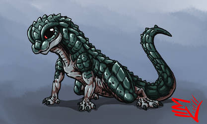Godzilla Absolute - NEWBORN GODZILLA by ABSOLUTEWEAPON