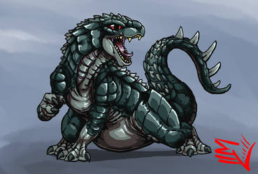 Godzilla Absolute - YOUNG GODZILLA by ABSOLUTEWEAPON