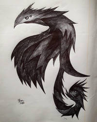 Ink dragon beast by Kyurem000