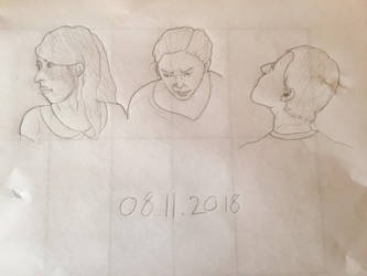 Warm-up: Head angles and expressions by Gemmabee