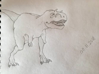 Draw 100 challenge: Dinosaurs [1 out of 100] by Gemmabee