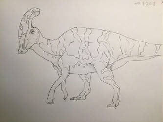 Draw 100 challenge: Dinosaurs [2 out of 100] by Gemmabee