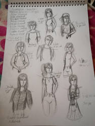 Reservation Sketch Dump Part 2(Uncoloured) by xKidatashx