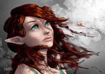 Elf Woman by Kajenx