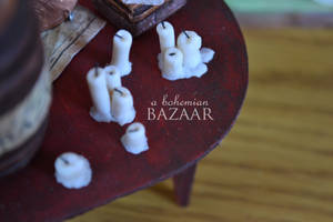 White Candles 1:12 Scale by TheMiniatureBazaar