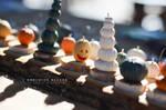 pumpkin and jack o'lantern minis _ 1:12 scale by TheMiniatureBazaar