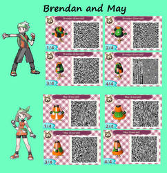 QR Codes--Brendan and May by KookyShyGirl88