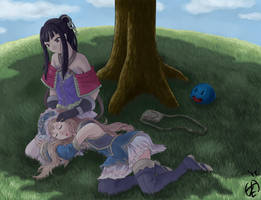 Final: Totori and Mimi (Atelier Meruru edition) by KingMetalZel