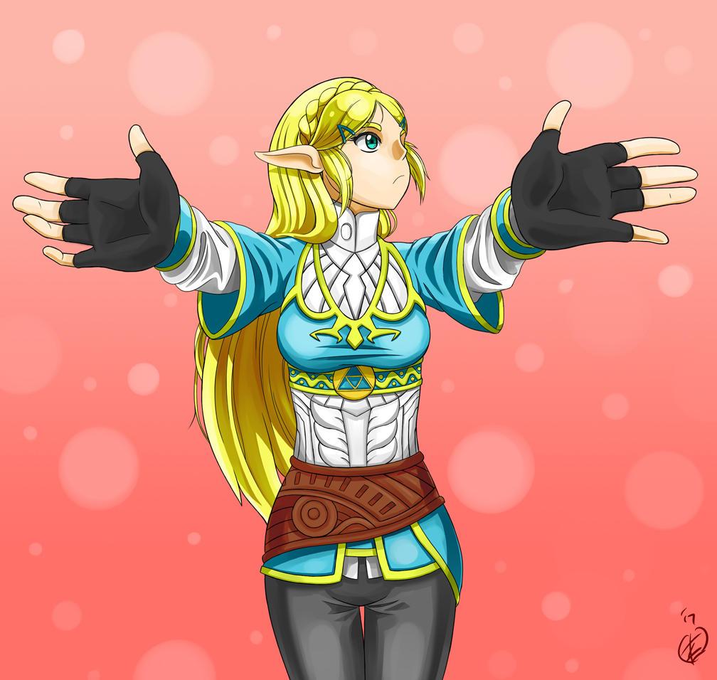 A hug from Princess Zelda by KingMetalZel