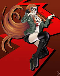 Futaba Sakura (Persona 5) by KingMetalZel