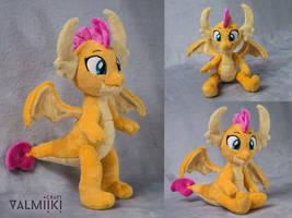 Smolder the Dragon Plush by Valmiiki