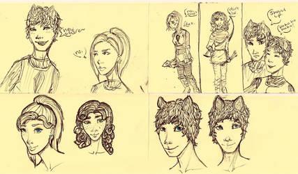 OC Doodles by HeyitsKeating