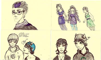 Homestuck doodles by HeyitsKeating