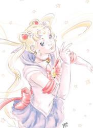 Sailor Moon fan-art by X-AEL