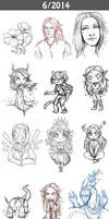 Daily doodles 2014-6 by Lysandr-a