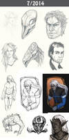 Daily doodles 2014-7 by Lysandr-a