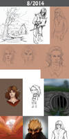 Daily doodles 2014-8 by Lysandr-a
