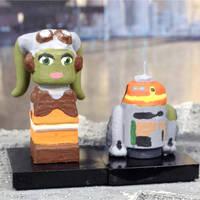 Hera and Chopper - Star Wars Rebels by herebewonder