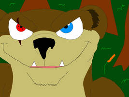 Buck the Weasel with his Sharingan. 1 by valentinfrench