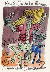 Inktober 2018 - Nov 2 - Dia de los Muertos by DonnaBarr