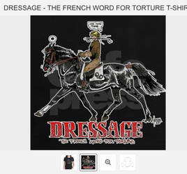 Dressage tshirt is back by DonnaBarr