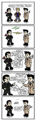 Cas... Meet Crowley. by blackbirdrose