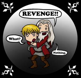 Merlin: Piggyback Revenge by blackbirdrose