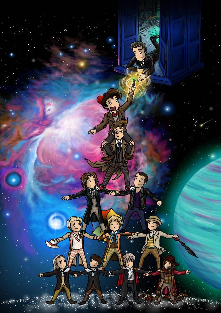 Doctor Who Fanzine Cover III by blackbirdrose