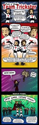 Team Trickster: Loki and Gabe by blackbirdrose