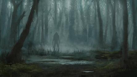 Creepy forest by MarieGrey