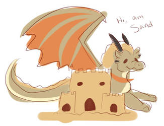 i am the sand guardian, guardian of the sand by SandspurDragonJunkie