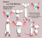 Pinky and the Brain model by EmpressHelenia