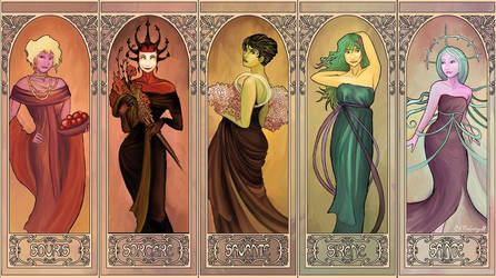 ReBoot Mucha - The Girls by EmpressHelenia