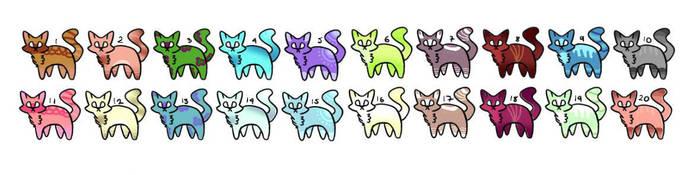 2 point kitties  by LizzieArtStudio